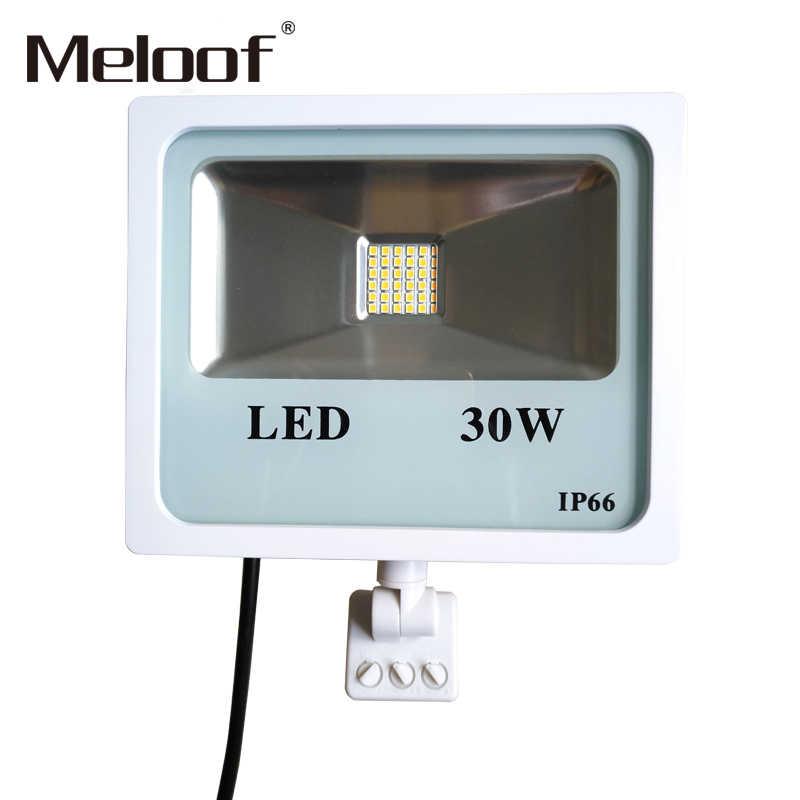 Sensor de movimiento LED Luz de inundación 100W 50W lámpara de reflectores impermeable IP65 Reflector foco LED para luz de patio exterior