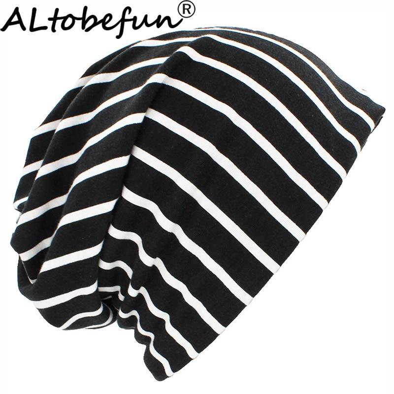 ALTOBEFUN Autumn Spring Thin Women   Skullies     Beanies   Lady Fashion Multifunction Design Hats For Girl Hot Feminino Scarf Cap HT903