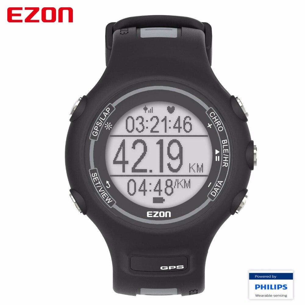 2017 EZON T907-HR Bluetooth Montres Intelligentes Optique Capteur Moniteur de Fréquence Cardiaque GPS Fonctionnant Numérique Montre pour IOS Android