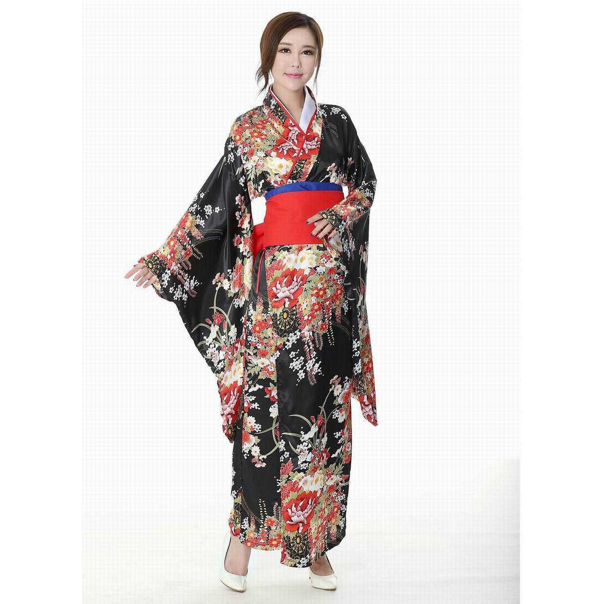 יפני מסורתי ילדה פרח גיישה קימונו בציר נשים שלב הצג תלבושות קוספליי גיהינום בנות Enma נשים סאקורה חליפה