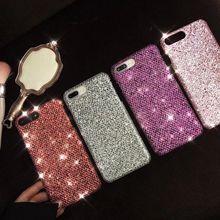 50 قطعة بلينغ الذهبي الحرير الترتر غطاء حقيبة لهاتف أي فون X 7 8 6s 6 Plus لينة حافة الظهر جراب هاتف ل Oppo R9 R9S R11 R11S زائد