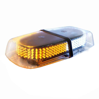 Mansuo Dual color Amber / White Warning Emergency Truck Car 240 LED Snow Plow Safety Strobe Light With Magnetic Base