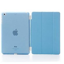Slim Smart Soft PU Leather + Cover Hard Translucent Plastic Shell Case for iPad Mini 1 2 3