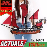 DHL Lepin 16009 Pirate Ship War Military Building Blocks Caribbean Compatible Brick Toy For Children DIY