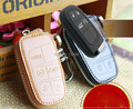 2014 NEW GENUINE LEATHER CAR KEY COVER FOR JEEP GRAND CHEROKEE KEY HOLDER CASE WITH RINGS