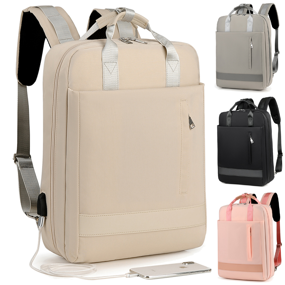 14 15 15.4 15.6 Inch With USB Interface Waterproof Laptop Notebook Bags Backpack Case For Men Women School Travel