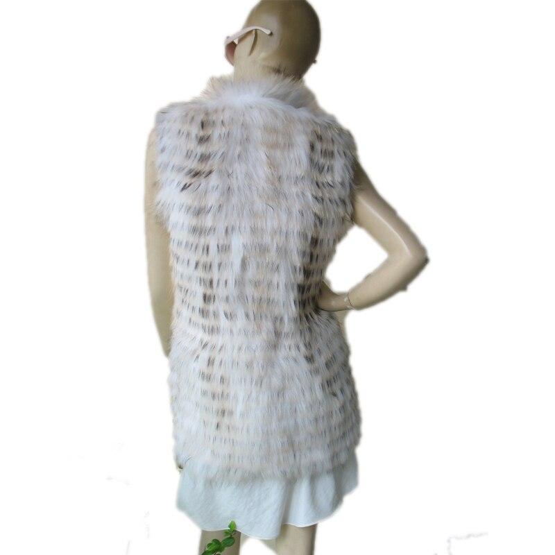 Gilet Mode Nouveau D'hiver Femmes Femelle De Chien Dame Veste Raton Fourrure Manteau Style Laveur 7P8vqF7