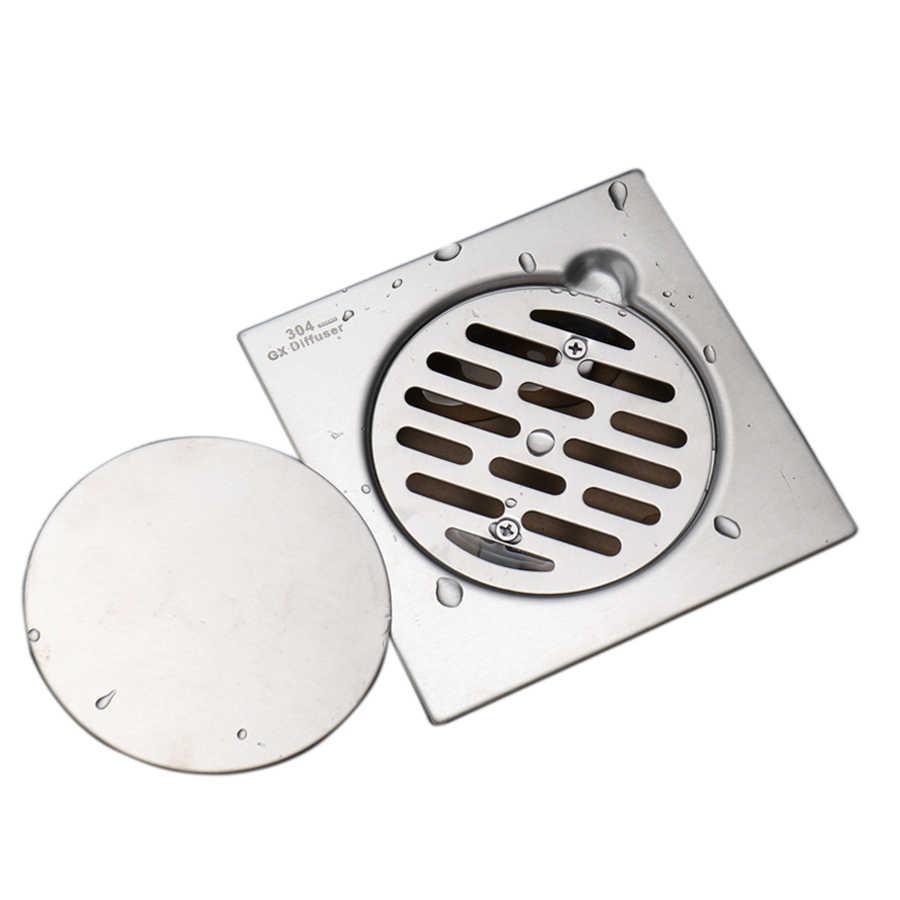 シャワードレン 304 ステンレス鋼格子床排水正方形の床フィルター浴室のシャワーハードウェアの付属品
