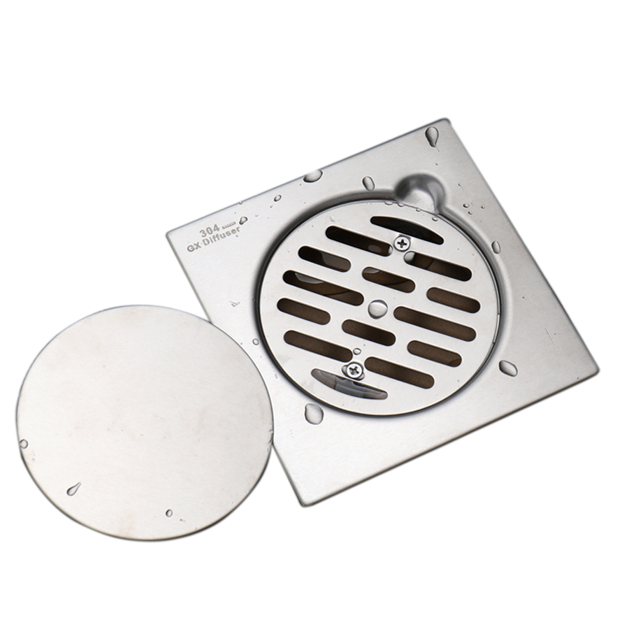 Shower Drain 304 Stainless Steel Invisible Grate Floor Drain Square ...