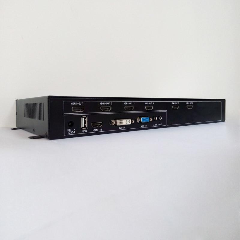 processeur de mur vidéo HDMI DVI USB vga entrée HDMI sortie pour 6 - Accueil audio et vidéo - Photo 4