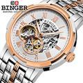 Switzerland watches men luxury brand Wristwatches BINGER luminous Automatic self-wind full stainless steel Waterproof B5036-9