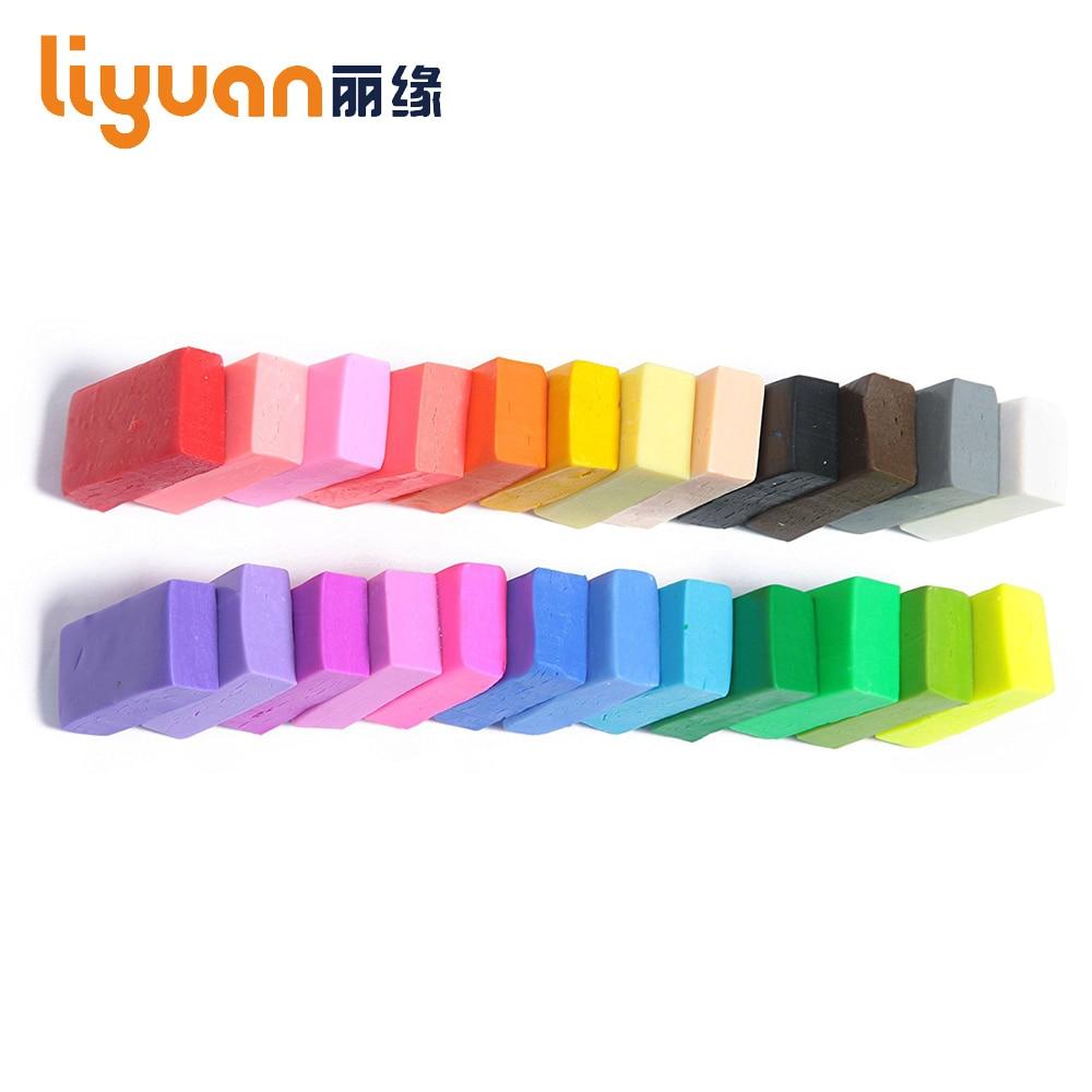 Szilárd színű Liyuan gyerekek sütés Fimo polimer Clay puha DIY sütő sült modell agyag 250g
