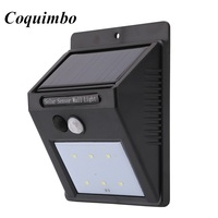 6 LED Outdoor Solar Led Light Wall Mount Security Lamp Super Bright Waterproof Light Motion Sensor Garden Fence Lamp