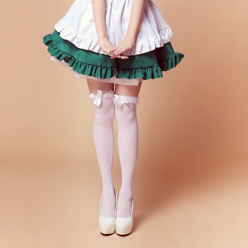Beauty Lolita Over-the-knee Stockings Black & White Soft Sexy Stockings Cosplay Lolita Punk Style Stockings