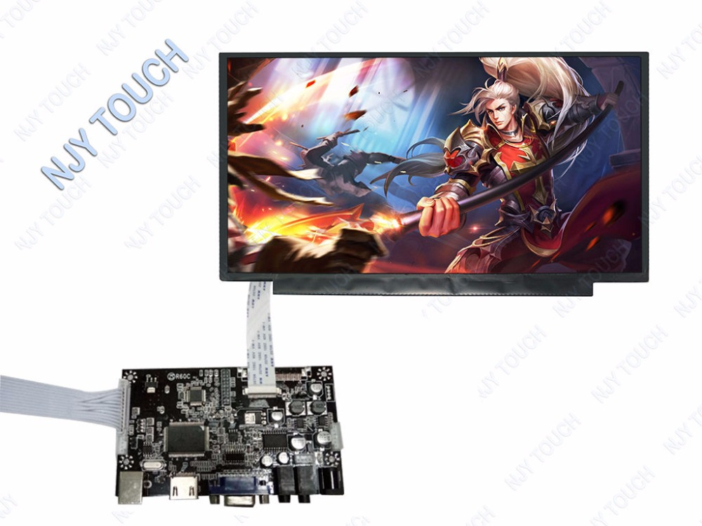 HDMI VGA LCD Controller Board kit for 13.3 inch LP133WF2  eDP 30Pins LED Screen Display vga hdmi lcd edp controller board led diy kit for lp116wh6 spa1 lp116wh6 spa2 11 6 inch edp 30 pins 1lane 1366x768 wled ips tft