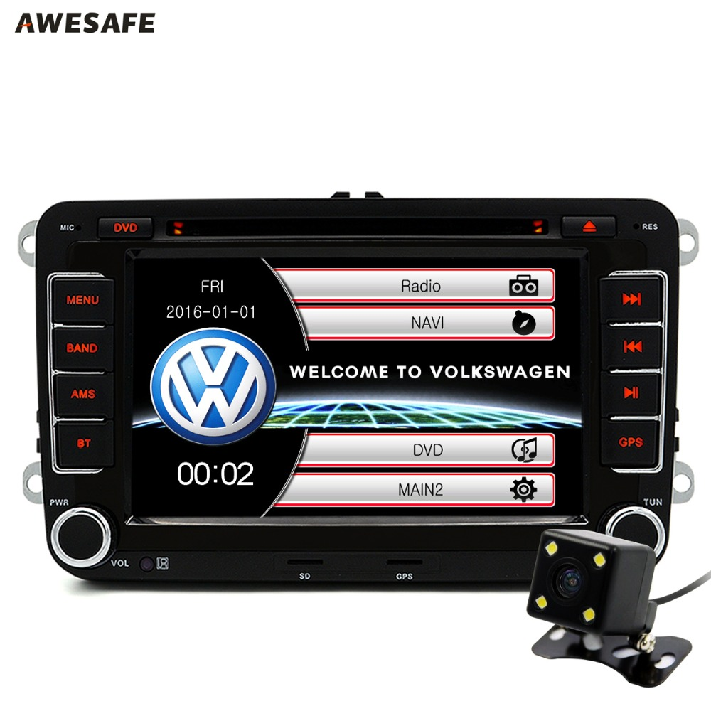 2 din car dvd gps radio player for volkswagen vw golf 5 6. Black Bedroom Furniture Sets. Home Design Ideas