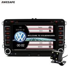 2 din Car DVD GPS radio player for Volkswagen VW golf 5 6 touran passat B6 sharan jetta polo tiguan with free gift