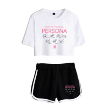 BTS Map Of The Soul: PERSONA Crop Top And Shorts Set