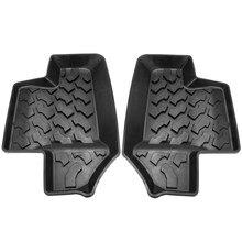 2 шт. автомобильные коврики для джип для Wrangler JK 2dr 07-17 салона авто аксессуары укладки коврик