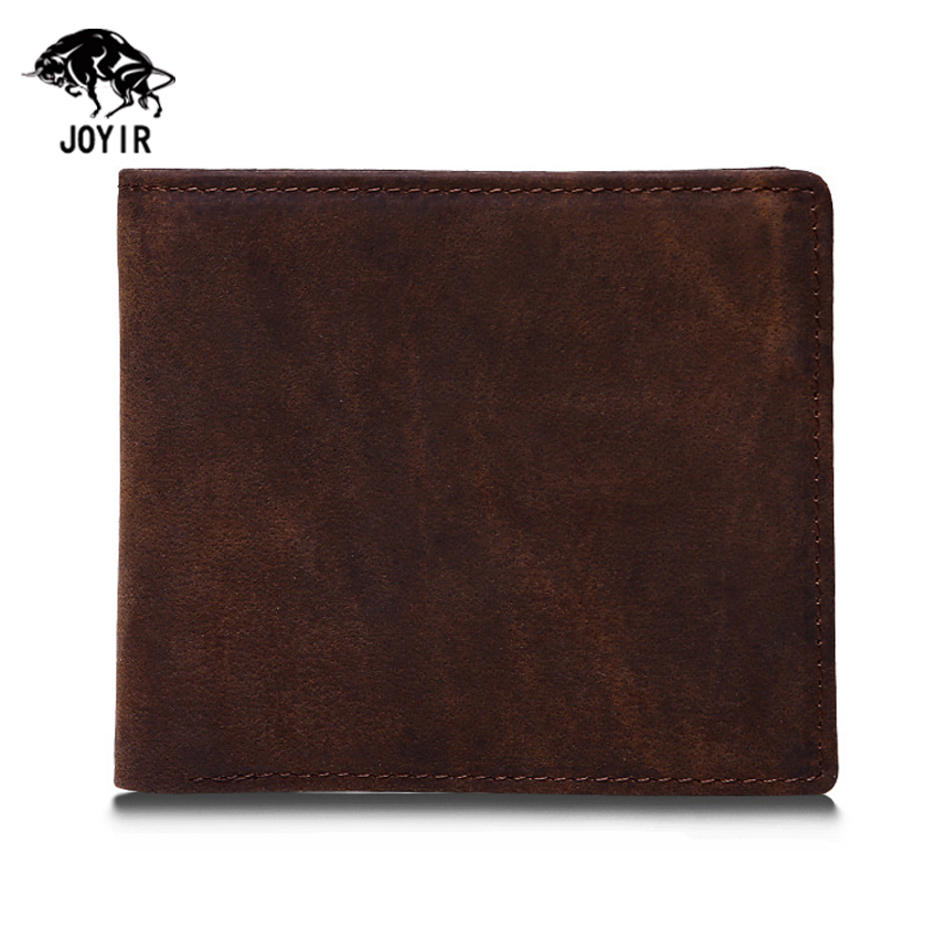 Crazy Horse Leather Wallets Men 2017 Famous Vintage Casual Wallets and Purses Male New Designer Short Dollar Price Money Bag 2015 new male baridian us 100 dollar bill fake money short purses billeteras hombre women s wallets classic flag designer