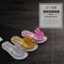 The new Korean style girl's sandals  rabbit head anti-skid slippers beach shoes