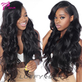 Silk Top Lace Front Wig Virgin Peruvian Lace Front  Human Hair Wigs With Baby Hair For Black Women Silk Base Wigs 130% Density