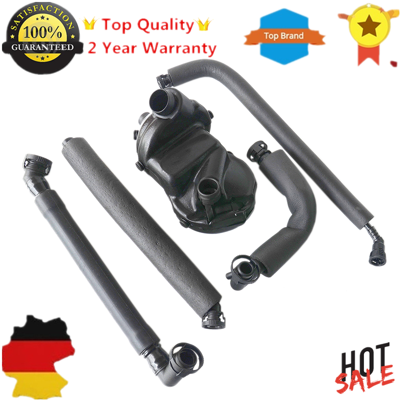 PVC Crankcase Vent Valve + Oil Separator Hose Kit for BMW X3 X5 Z3 Z4 E46 E39 E60 E61 M52 M54 3 5 7 #11617533400, 11617533399