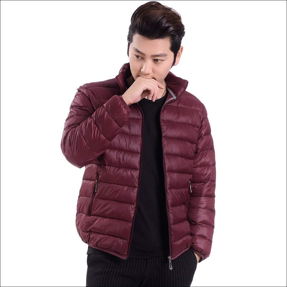 2018 New autumn winter fashion light thin warm Hooded men's clothing cotton-padded clothes jacket coat parka outerwear