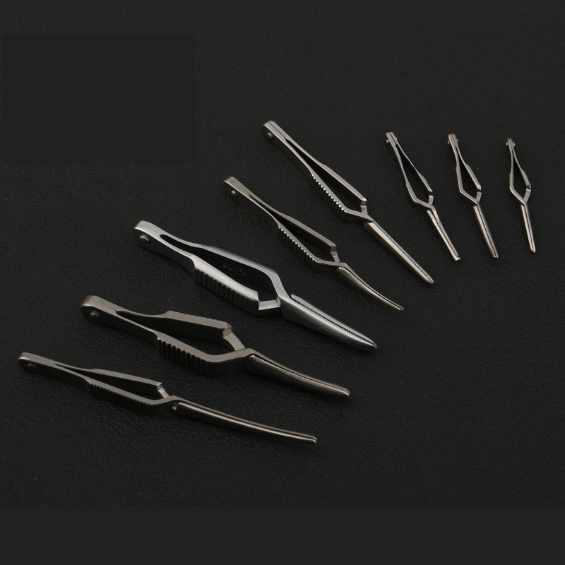 Arterial Vascular Clip Stainless Steel Microsurgical Device Temporary Blocking Of Artery Clamps And Straight Bending Full Teeth