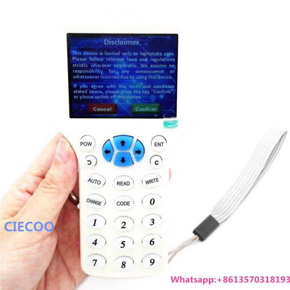 Frequency ID/IC RFID Copier Reader Writer /Copy Updated Version 125KHZ Key tags + 13.56MHZ UID Keyfobs free shipping