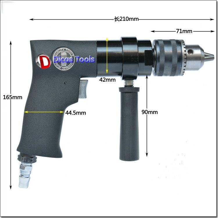 13 mm tartókapacitású légfúró pneumatikus fúrócsiszoló - Elektromos kéziszerszámok - Fénykép 6