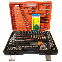 121 pc/set socket wrench combination set tool mechanic maintenance tool Chrome vanadium steel hardware tools