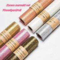 70cmx8yard/roll Mermaid Gauze Gold Mesh Tulle Roll Flower Decor Roll Fabric Spool Craft Tulle Fabric DIY Organza Gift Wrap