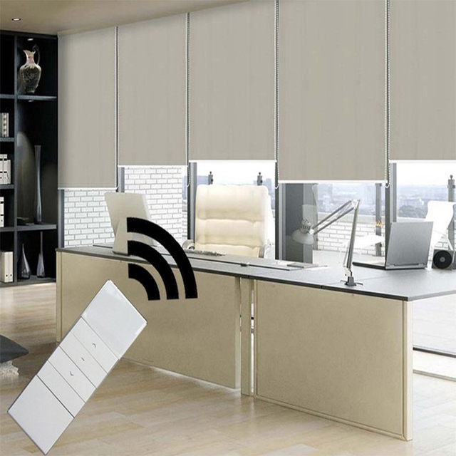 motorized blackout shades. New Motorized Blackout Roller Blinds The Curtains With Dooya Motor KM25TE Shades H