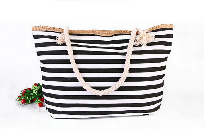 Popular Striped Beach Bags-Buy Cheap Striped Beach Bags lots from ...
