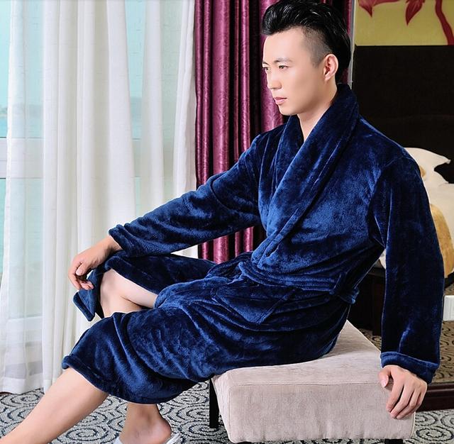 Hilift espessamento flanela roupão de banho feminino masculino outono e inverno os amantes de flanela robe masculino roupão feminino