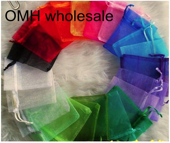 OMH Wholesale 10pcs7x9,10x12,10x15,11x16,15x20,17x23,13x18cm MIX Christmas Packaging Bags Jewelry Voile Gift Bag BZ08-20