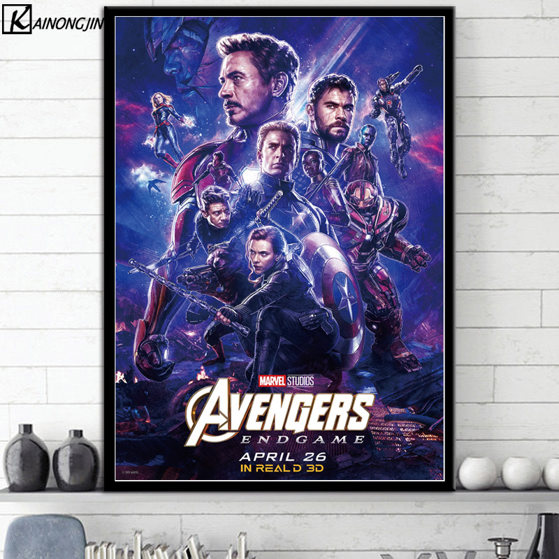 22 Marvel Cinematic Universe COLLAGE Poster Avengers EndGame Movie Art