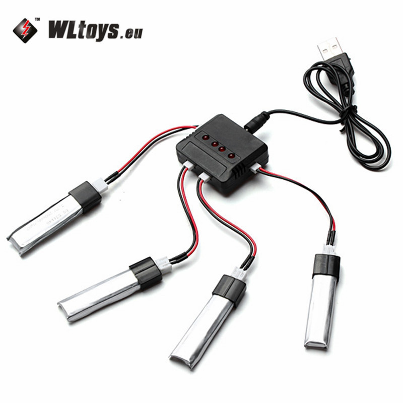 Hot Sale WLtoys V911 V911-1 V911-2 3.7V 200mAh Battery MCPX Plug With Charger Connecting cable wltoys wl r6 left hand mode remote controller for v911 v911 1 v911 2 v912 v913 black