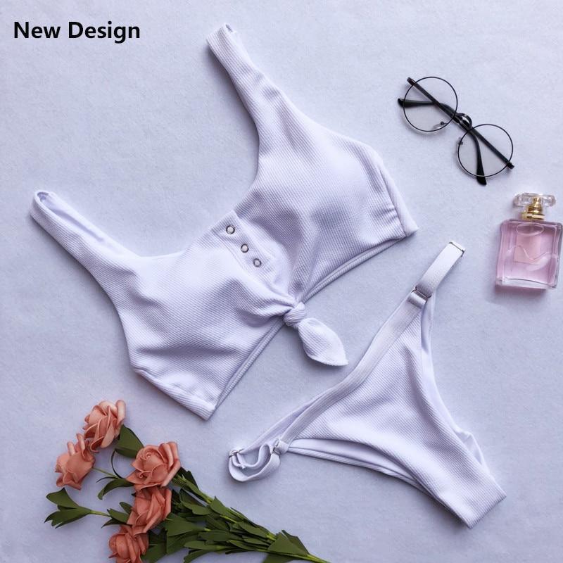 HTB1iSmTjA7mBKNjSZFyq6zydFXak Ariel Sarah Brand Sexy Swimwear Solid Bikini Women Swimsuit V Neck Bikinis Set Pants Adjust Bathing Suit Sport Style Biquini