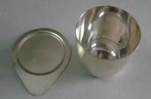 silver 99.99% crucible with cover laboratory equipment silver 99.99% crucible with cover laboratory equipment