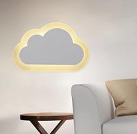 Luzes de parede led moderno nuvens arandela lâmpada para quarto estudo sala foyer acrílico decoração para casa branco quente