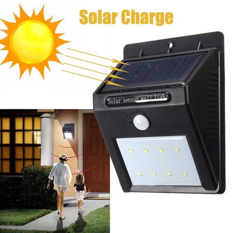 Lâmpadas Solares d' Água led solar light Item : Outdoor Waterproof Led Solar Light Motion Sensor