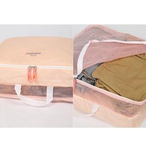 Image 5 - 5PCS/Set High Quality Oxford Cloth Travel Mesh Bag Luggage Organizer Packing Cube Organiser Travel Bags Travel Bags Packing Cube