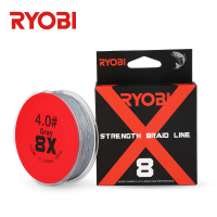 RYOBI 150m 8X Carrier Braid Smooth Strong Braid Wire Carp Freshwater Drag up to 70LB 165yds Braided PE Saltwater Fishing Lines