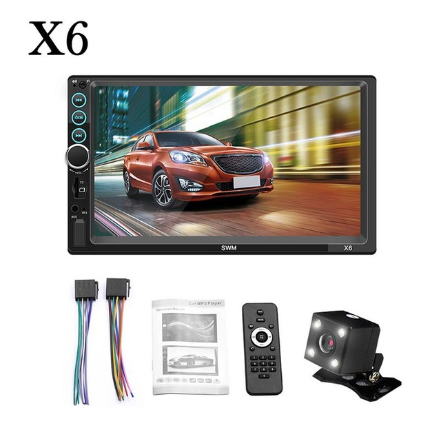 7 pollici 2 din Auto Lettore Bluetooth Stereo Touch Screen Radio MP5 Lettore Multimediale Supporta IOS Android Specchio Link