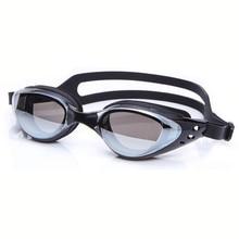 New Men Women Professional Electroplate Waterproof Anti fog HD Myopia Lenses UV Protection Swimming Goggles Glasses Swim Eyewear