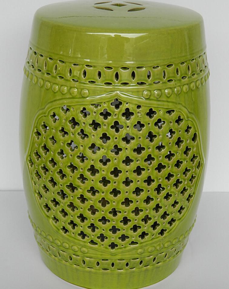Bon Ceramic Green Color Glazed Garden Stool Ceramic Stool Cheap. AeProduct.