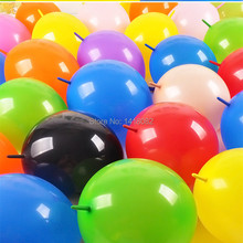 100 pcs/lot 10inch tail balloons multicolor wedding birthday party supplies marriage room decoration link balloon