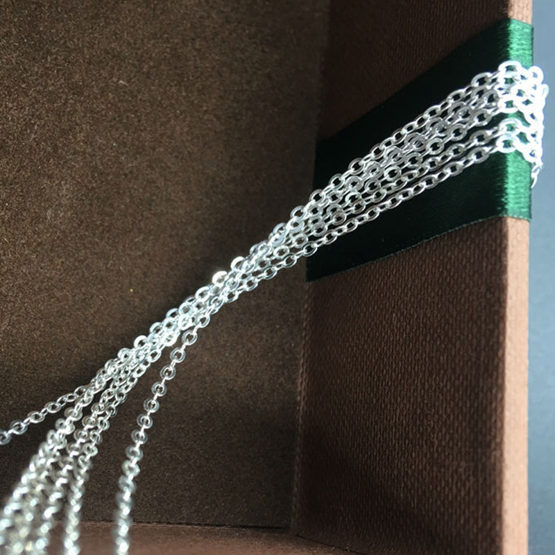 Fake One Penalty Ten  1.5MM/W (6g=2M)/Pack 925 Sterling Silver Chains Jewelry Findings Jewellery Accessories